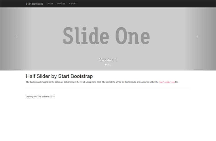 Half Page Bootstrap Image Carousel Slider